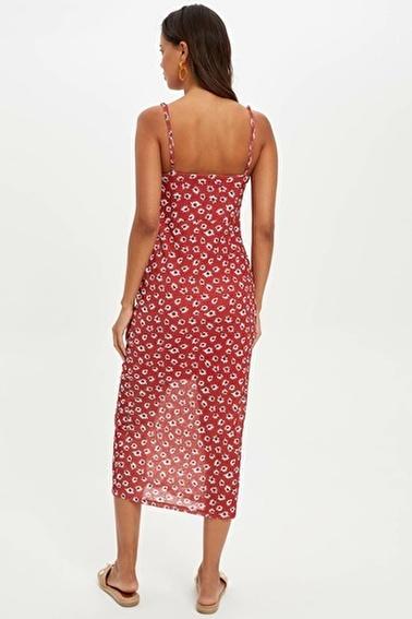 DeFacto Elbise Kırmızı